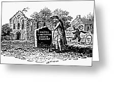 Old Man At Tombstone Greeting Card by Granger