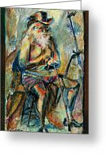 Old Man In The Chair Greeting Card by David Finley