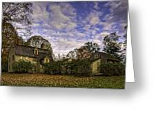 Old Manse In Autumn Glory Greeting Card by Jose Vazquez