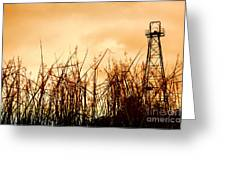 Old Oil Tower Greeting Card by Antoni Halim