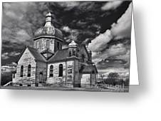 Old Prairie Church And Storm Front Greeting Card by Royce Howland