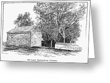 Old Quaker Meeting House Greeting Card by Granger