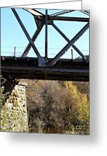 Old Railroad Bridge At Union City Limits Near Historic Niles District In California . 7d10743 Greeting Card by Wingsdomain Art and Photography