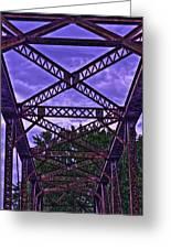 Old Railroad Bridge Greeting Card by Jason Blalock