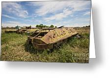 Old Russian Btr-60 Armored Personnel Greeting Card by Terry Moore