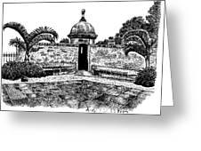 Old San Juan View Greeting Card by Angel Serrano