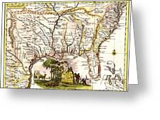 Old  Se United States Map Greeting Card by Unknown
