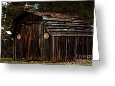Old Shed Oakhurst Greeting Card by Marjorie Imbeau