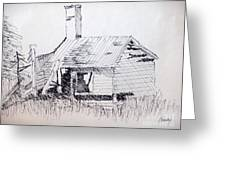 Old Shed Greeting Card by Rod Ismay