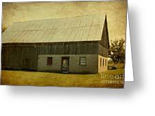 Old Textured Barn Greeting Card by Sophie Vigneault