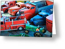 Old Tin Toys Greeting Card by Steve McKinzie
