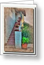 Old Town Stairs Greeting Card by Frank Garciarubio
