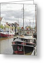 Old Town With Harbor Greeting Card by Stefan Kuhn