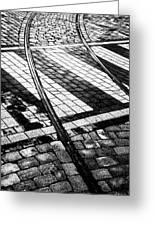 Old Tracks Made New Greeting Card by Hakon Soreide