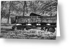 Old Wagon Greeting Card by Lisa Moore