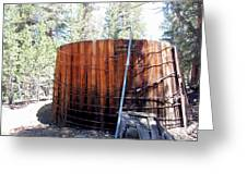 Old Water Tank Greeting Card by Kirk Williams