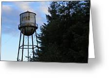 Old Water Tower Greeting Card by Laurie Kidd