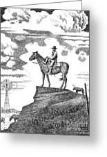 Old-west-art-cowboy Greeting Card by Gordon Punt