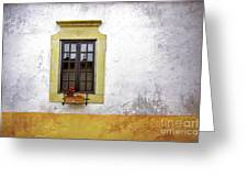 Old Window Greeting Card by Carlos Caetano