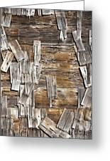 Old Wood Shingles On Building, Mendocino, California, Ca Greeting Card by Paul Edmondson