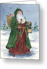 Old World Father Christmas Greeting Card by Barbel Amos