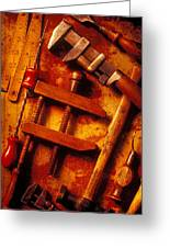 Old Worn Tools Greeting Card by Garry Gay