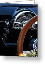 Oldsmobile 88 Dashboard Greeting Card by Peter Piatt