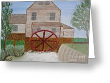 Ole' Grist Mill Greeting Card by Dawn Harrold