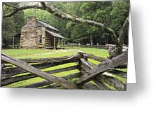 Oliver Cabin in Cade's Cove Greeting Card by Randall Nyhof
