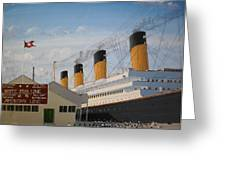 Olympic At Ocean Dock Greeting Card by James McGuinness