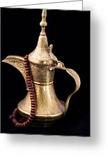 Omani Coffee Greeting Card by Tom Gowanlock