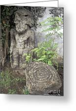 Ometepe Sculptures Nicaragua Greeting Card by John  Mitchell