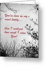 On My Mind Greeting Card by Deborah  Crew-Johnson