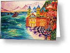 On The Island Of Buyan. Greeting Card by Jeanne Mytareva