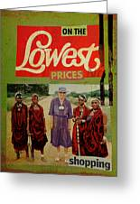 On The Lowest Prices Shopping Greeting Card by Adam Kissel