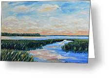 On The May River Greeting Card by Stanton Allaben