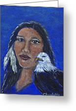 Onawa Native American Woman Of Wisdom Greeting Card by The Art With A Heart By Charlotte Phillips