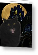 One Dark Halloween Night Greeting Card by Shane Bechler