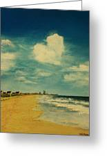 One Heart Over The Beach Greeting Card by Heather  Gillmer