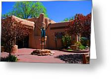 One Of The Many Art Galleries In Santa Fe Greeting Card by Susanne Van Hulst