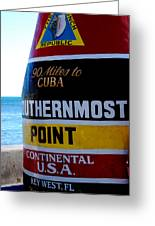 Only 90 Miles To Cuba Greeting Card by Susanne Van Hulst