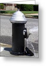 Open Fire Hydrant Greeting Card by Suhas Tavkar