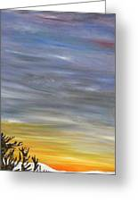 Open Road With Snow Greeting Card by Becky Wheeler
