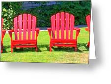 Open Seating Greeting Card by Randall Weidner