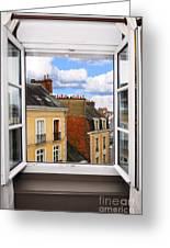 Open Window Greeting Card by Elena Elisseeva