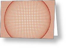 Optical Illusion Orange Ball Greeting Card by Sumit Mehndiratta