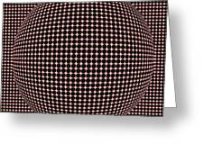 Optical Illusion Red Ball Greeting Card by Sumit Mehndiratta