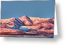 Oquirrh Mountains Utah First Snow Greeting Card by Tracie Kaska