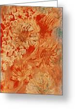 Orange Fantasia II Greeting Card by Anne-Elizabeth Whiteway