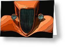 Orange Jalopy Greeting Card by Samuel Sheats